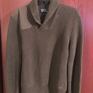 POLO LONG SLEEVE SWEATER SHIRT OLIVE GREEN COLOR